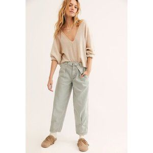 Free People Paloma slouchy belted retro jeans